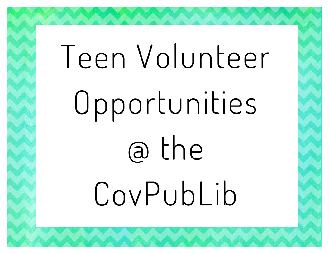 teen volunteer opportunities   coventry public library